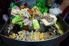 烤食物市场晚上台湾 免版税库存照片