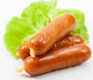 烤香肠和蔬菜 免版税库存图片