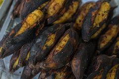 烤香蕉 免版税库存图片