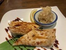 烤鱼日本式 免版税库存图片