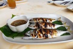 烤鲭类鱼 免版税库存图片