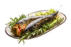 烤鲭鱼 免版税库存图片