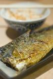 烤鲭鱼saba 免版税图库摄影
