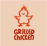 烤鸡。公司商标 库存图片