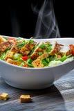 烤鸡和新鲜蔬菜作为一顿健康膳食 免版税库存照片