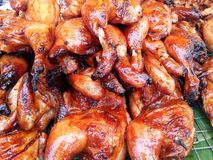 烤鸡或烤 库存照片