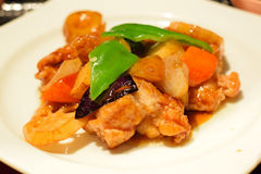 烤鸡用甜&酸调味汁 免版税图库摄影
