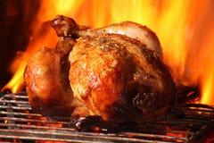 烤鸡 免版税图库摄影