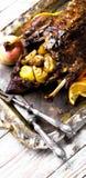 烤鸭和桔子 免版税库存图片
