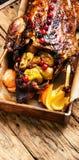 烤鸭和桔子 图库摄影