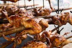 烤,格栅,鸡 免版税库存图片
