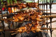 烤,格栅,鸡 免版税库存照片