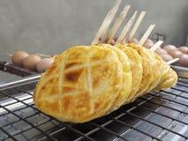 烤黏米饭用鸡蛋 免版税图库摄影