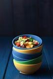 烤绿色lentile和菜 库存图片