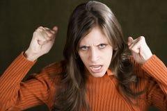 烦乱妇女年轻人 免版税库存图片