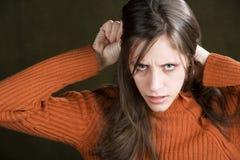 烦乱妇女年轻人 库存照片