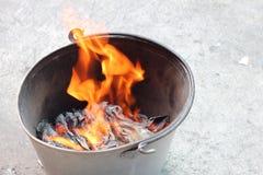 烧伤为祈祷作为中国文化的信仰 免版税库存照片