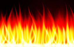 烧伤火焰火传染媒介背景 库存例证