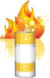 烧伤能源饮料 库存例证