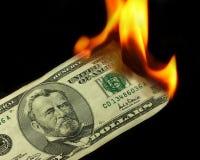烧伤货币 免版税库存照片