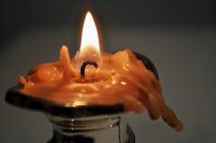 烧光蜡烛 库存照片