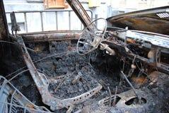 烧坏汽车 免版税库存图片