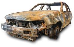 烧坏汽车 库存图片