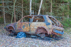 烧坏的汽车 图库摄影