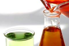 烧杯液体不育的测试 免版税库存照片