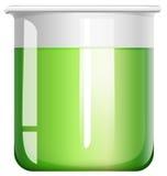 烧杯绿色液体 库存例证