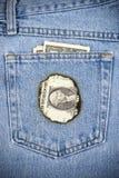 烧漏洞的货币 免版税库存图片