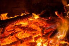 烧热炉的宿营 库存照片