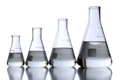 烧瓶实验室 免版税库存图片