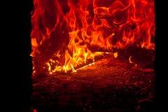 烧采煤火的灰 免版税图库摄影
