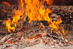 烧采煤火的灰 免版税库存图片