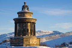 烧calton爱丁堡小山纪念碑 库存图片
