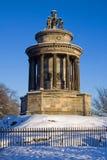 烧calton爱丁堡纪念碑 免版税图库摄影