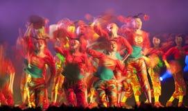 热中国人舞蹈民间的女孩 库存照片