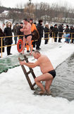 热冰游泳者 图库摄影