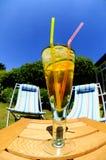 热冷静日的饮料 免版税库存照片