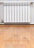 热化幅射器在屋子里 免版税库存图片