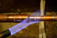 热化铜管子 库存图片