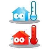 热和冷的房子 免版税库存照片