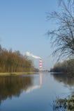 热和能源厂 免版税库存照片