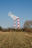 热和能源厂 免版税库存图片