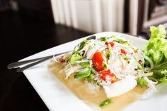 热和辣,泰国沙拉 免版税库存照片