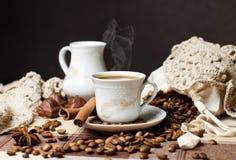 热咖啡时间 免版税库存照片