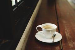 热咖啡的浓咖啡 免版税图库摄影