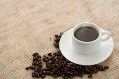 热咖啡的cuppa 免版税图库摄影