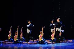 热四面八方比基尼泳装这仑巴舞这奥地利的世界舞蹈 图库摄影